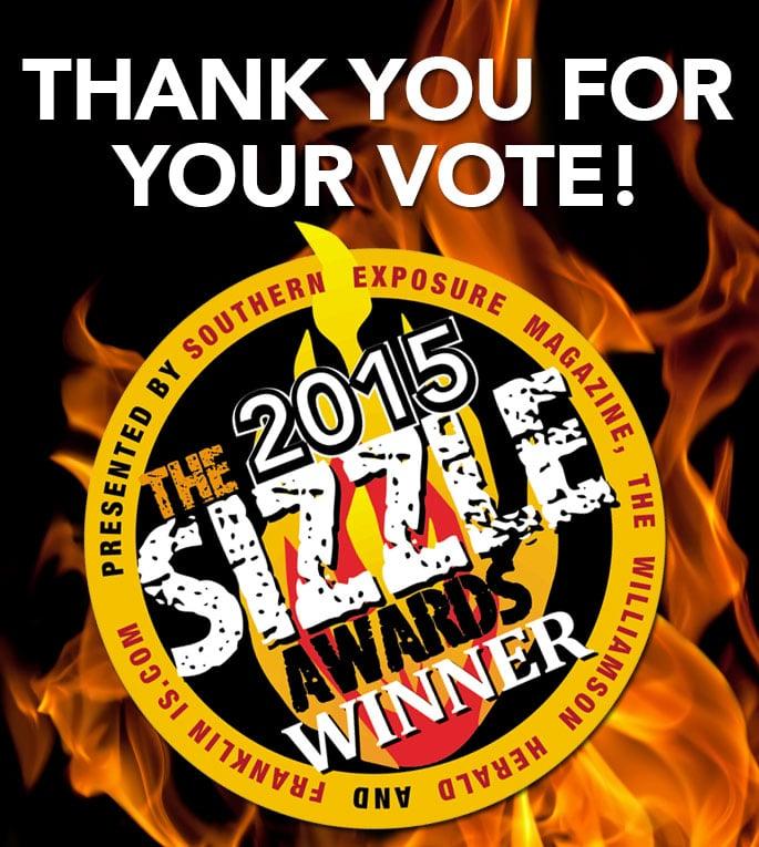 2015 Sizzle Award Winner